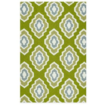 Kaleen Escape Diamond 2-Foot x 3-FootIndoor/Outdoor Rug in Blue