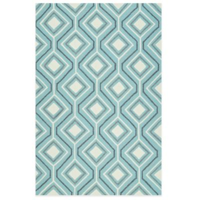 Kaleen Escape Geometric Diamonds 4-Foot x 6-Foot Indoor/Outdoor Rug in Blue