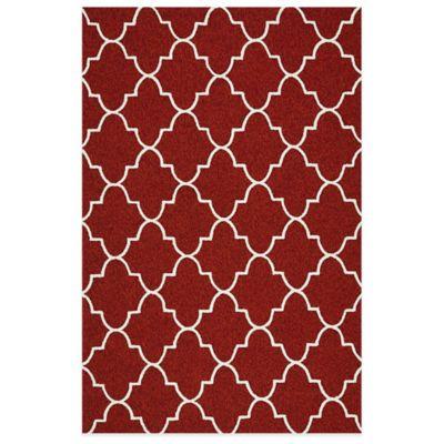 Kaleen Escape Trellis 2-Foot x 3-Foot Indoor/Outdoor Rug in Red