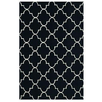 4' x 6 Black Area Rug