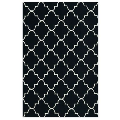 Kaleen Escape Trellis 8-Foot x 10-Foot Indoor/Outdoor Rug in Black