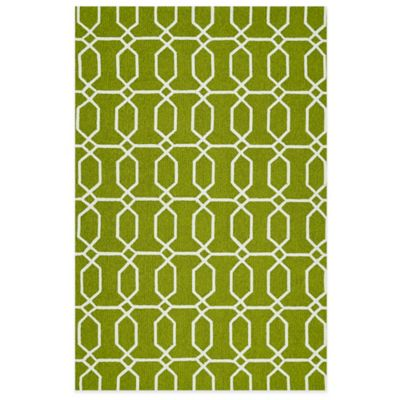 Yellow White Indoor Outdoor Rug