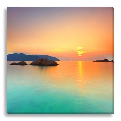 Sunrise Over The Ocean 40-Inch x 40-Inch Canvas Art