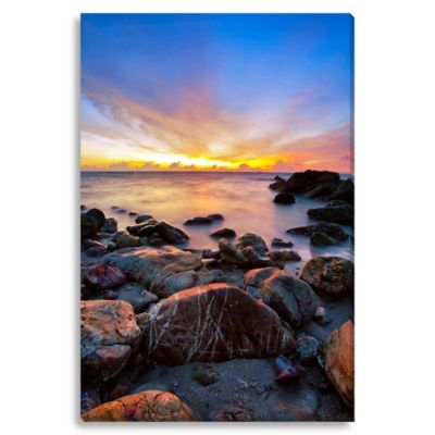 Sunset Medium Photographed Canvas Art