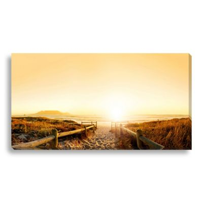 Sunrise on the Beach 24-Inch x 13-Inch Canvas Art