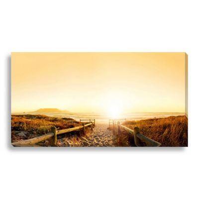 Sunrise on the Beach 40-Inch x 22-Inch Canvas Art