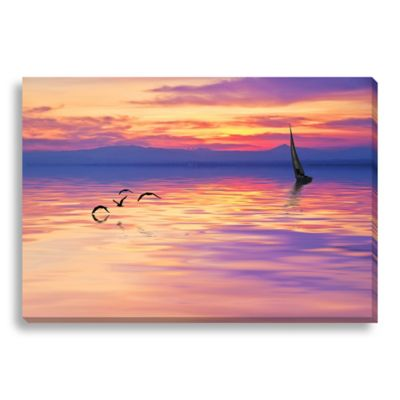 Chasing the Sun Large Photographed Canvas Art