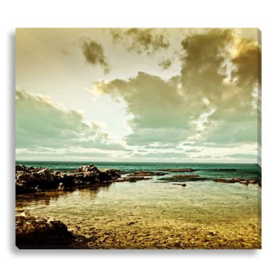 Sea Landscape 16-Inch x 14-Inch Canvas Art