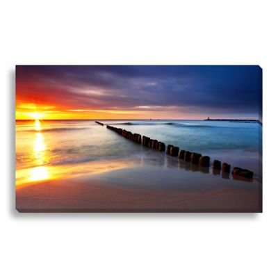 Sunrise Beauty 24-Inch x 14-Inch Canvas Art