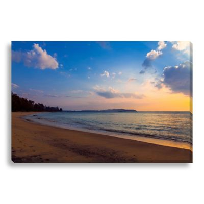 Sunset on the Beach 40-Inch x 27-Inch Canvas Art
