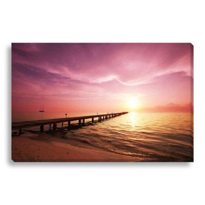 Boardwalk on the Beach Medium Photographed Canvas Art