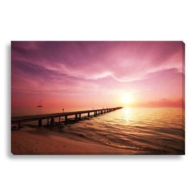 Boardwalk on the Beach Large Photographed Canvas Art