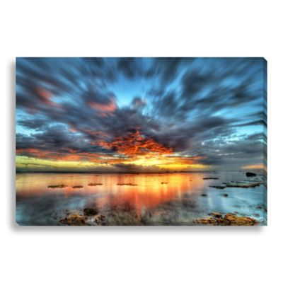Sunset over the Lagoon 24-Inch x 16-Inch Canvas Art