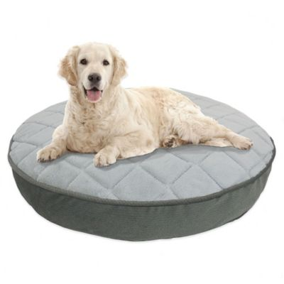 Therapedic™ Memory Foam 36-Inch Round Dog Bed in Charcoal