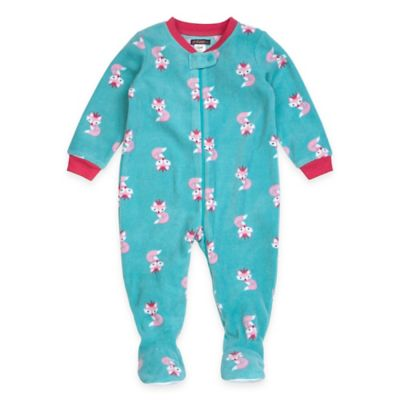 Petit Lem™ Size 12M Princess Fox Footed Pajama in Green