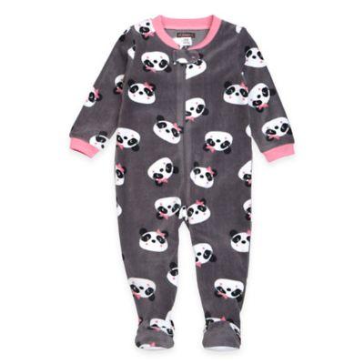 Petit Lem™ Size 12M Panda Footed Pajama in Grey