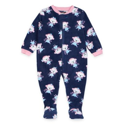 Petit Lem™ Size 18M Monkey Princess Footed Pajama in Navy