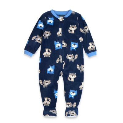 Petit Lem™ Size 12M Forest Animals Footed Pajama in Navy