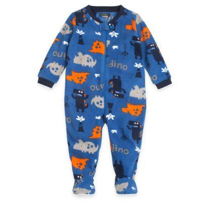 "Petit Lem™ Size 18M ""Oscar Saurus"" Dinosaur Footed Pajama in Blue"