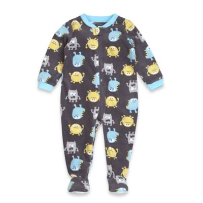 Petit Lem™ Size 12M Monster Friends Footed Pajama in Charcoal
