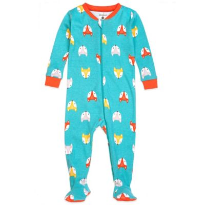 Size 24M Fox Footed Pajama in Green