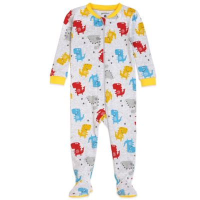 Petit Lem™ Size 12M Oscar Saurus Footed Pajama in Yellow