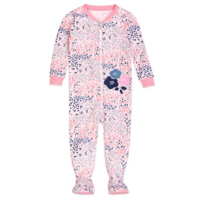 Petit Lem™ Size 12M Flowers are Pretty Footed Pajama in Pink