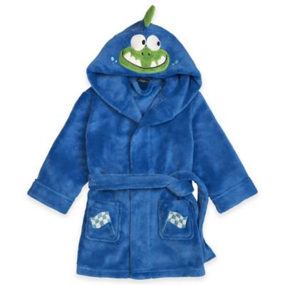 Petit Lem™ Size 4T Dinosaur Racer Hooded Bathrobe in Blue