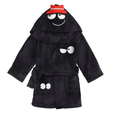 Black Hooded Bathrobe