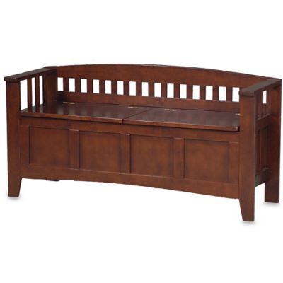 Linon Home Wengate Split Seat Storage Bench