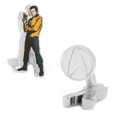 Star Trek Silver-Plated Captain Kirk Comic Cufflinks