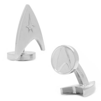 Star Trek Silver-Plated Delta Shield Cufflinks
