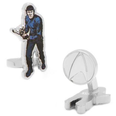 Star Trek Silver-Plated Spock Comic Cufflinks