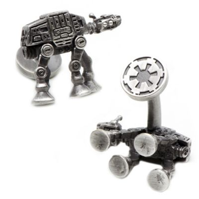 Star Wars™ Palladium-Plated 3D AT-AT Walker Cufflinks