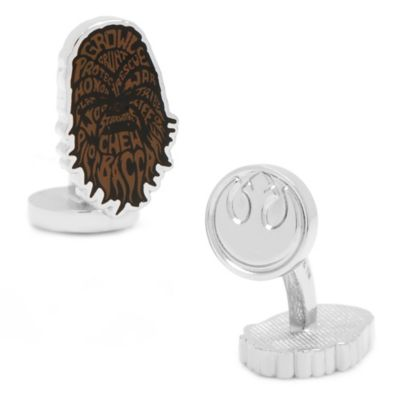 Star Wars™ Enameled Chewbacca Typography Cufflinks