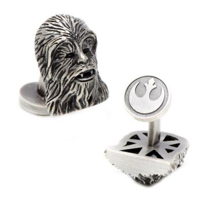 Star Wars™ Palladium-Plated 3D Chewbacca Cufflinks