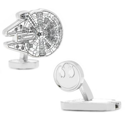 Star Wars™ Silver-Plated Millennium Falcon Blueprint Cufflinks