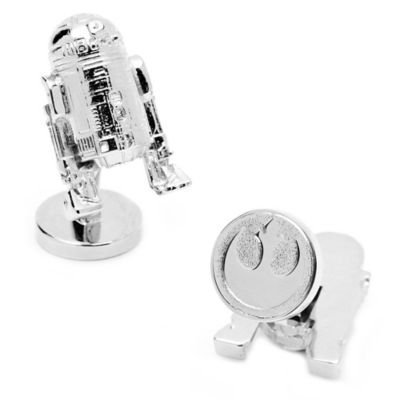 Star Wars™ Palladium-Plated 3D R2D2 Cufflinks
