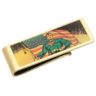 DC Comics™ Bronze-Plated Vintage Patriotic Superman Money Clip