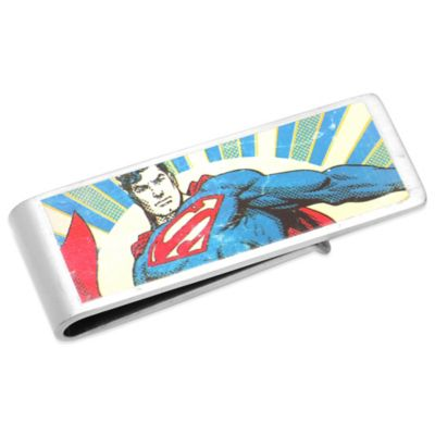 DC Comics™ Silver-Plated Vintage Superman Money Clip