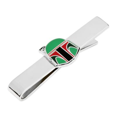 Star Wars™ Silver-Plated Boba Fett Helmet Sliding Tie Bar