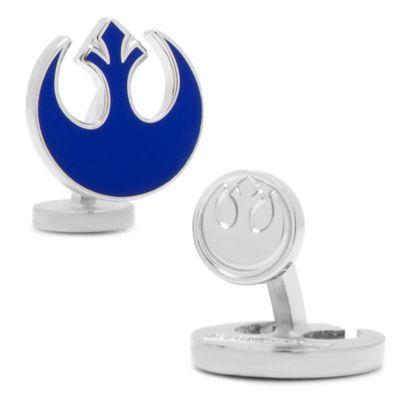 Star Wars™ Silver-Plated Blue Rebel Cufflinks