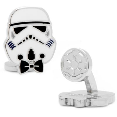 Star Wars™ Enameled Storm Trooper Style Cufflinks