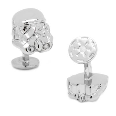 Star Wars™ Palladium-Plated 3D Storm Trooper Cufflinks
