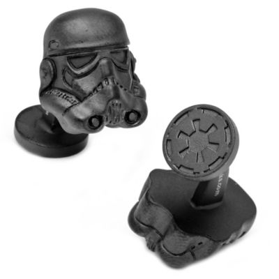 Star Wars™ Matte Black 3D Storm Trooper Cufflinks