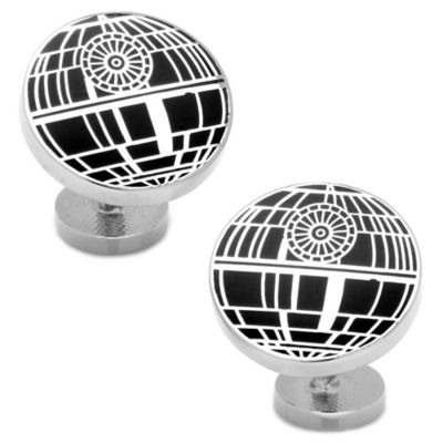 Star Wars™ Silver-Plated Recessed Matte Death Star Cufflinks