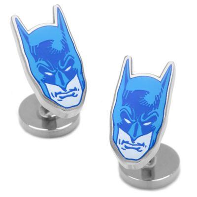 DC Comics™ Silver-Plated Blue Batman Mask Cufflinks