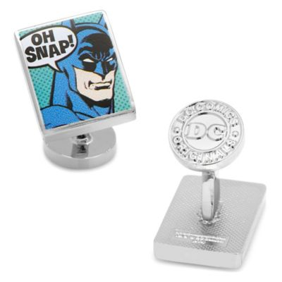 DC Comics™ Batman Silver-Plated Oh Snap Cufflinks