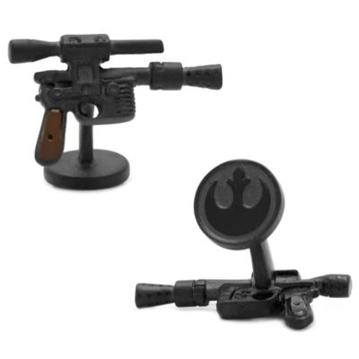 Star Wars™ Matte Black 3D Han Solo DL44 Blaster Cufflinks