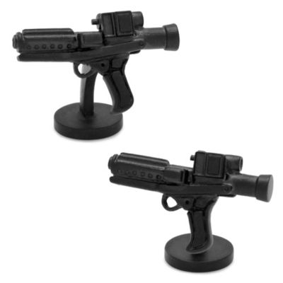 Star Wars™ Matte Black 3D Storm Trooper E-11 Blaster Cufflinks